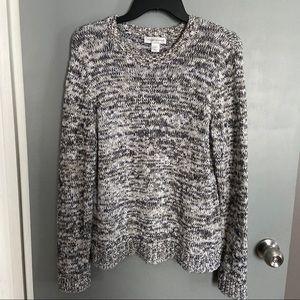 Christopher & Banks Knit Metallic Sweater